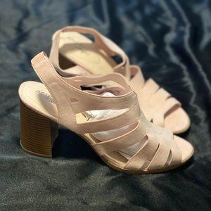 Soft Pink Dexter Comfort Block Heel